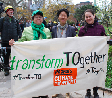 Thank you @kristynwongtam for your words at the #climatemarch. Let's #TransformTO #TOgether into a healthy, equitable, climate-friendly city